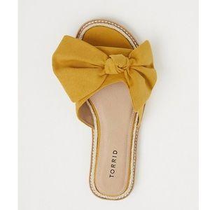 Torrid bow sandals